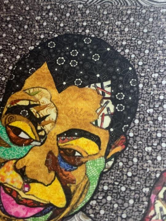 James Baldwin notecard with art and bio on the back. Art by Kisasi Ramsess, Los Angeles black artist. Custom framing at Serengeti Gallery.