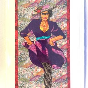 Phyllis Hyman notecard with art and bio on the back. Art by Kisasi Ramsess, Los Angeles black artist. Custom framing at Serengeti Gallery.